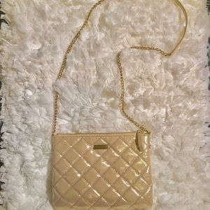 Kate Spade Gold Metallic Quilted Purse
